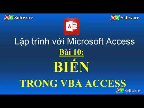 bài 10: BIẾN TRONG VBA ACCESS - Học Microsoft Access