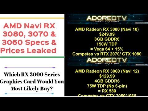 Radeon Navi RX 3000 Series Lineup Leaked! - смотреть онлайн