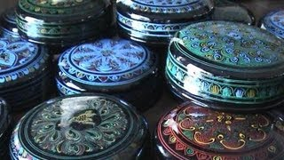 preview picture of video 'Burma / Myanmar - Bagan Lacquerware factory'