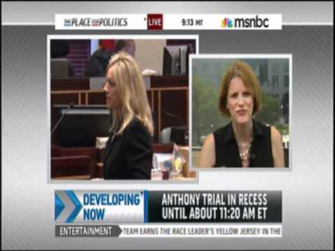 Meg Strickler on MSNBC July 4, 2011 discussing Casey Anthony trial at 11 am