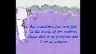 Ashley Tisdale - No Princess Lyrics