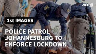 Coronavirus: South Africa police patrol to enforce lockdown | AFP