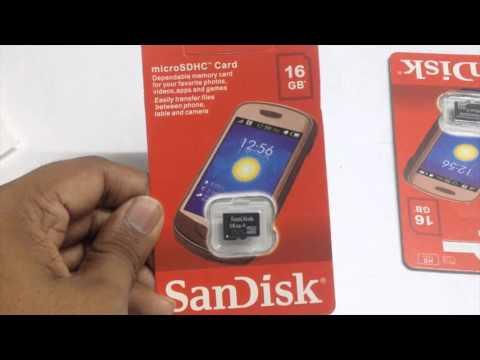 Sandisk 16GB microSD memory card: Unboxing.