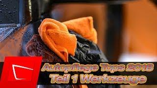 Die besten Autopflegeprodukte 2018 Werkzeuge - Waschhandschuh, Trockentuch, Dirt Trap, Felgenbürste
