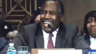 Ben Carson LAUGHS OFF Sen Warren RANT at Donald Trump