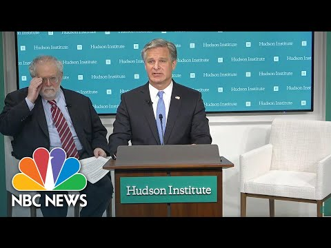Wray: China's 'Economic Espionage' Poses 'Greatest Long-Term Threat' To U.S. Economy | NBC News NOW