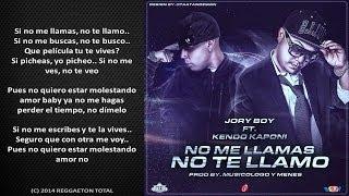 No Me Llamas No Te Llamo - Jory Boy Ft. Kendo Kaponi (Video Le...