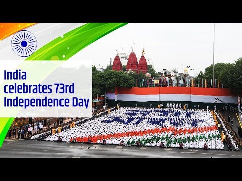 PM Modi at 73rd Independence Day Celebrations at Red Fort, Delhi