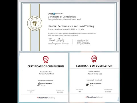 Free Certification of JMeter/Performance testing via LinkedIn ...