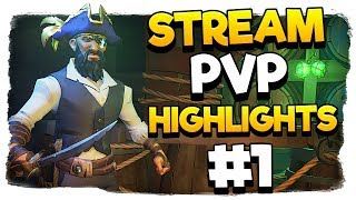 MixelPlx Stream PvP Highlights #1 - Sea of Thieves Gameplay