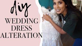 DIY Wedding Dress Alterations | Doing my own wedding dress fitting