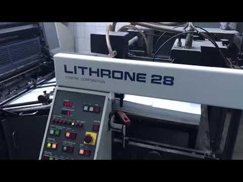 1998 Komori Lithrone L528 Offset Printing Machine
