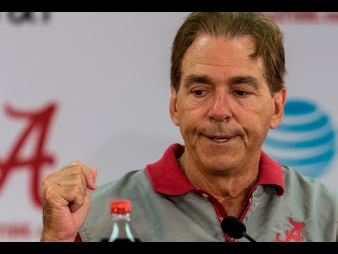 Nick Saban talks about who's out at A-Day, comments on Jalen Hurts' development