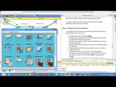 CCNA 1 PT Practice Skills Exam Type A - YouTube