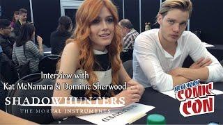 Shadowhunters Press Interview at NYCC 2015 | Dominic Sherwood & Kat McNamara