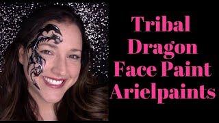 Tribal Dragon Face Painting Tutorial ~ Arielpaints