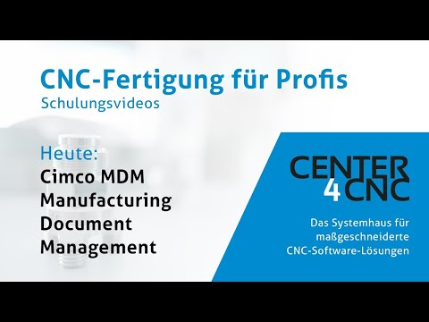 Websession Cimco MDM – Manufacturing Document Management