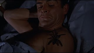 DR. NO   Bond wakes up with a tarantula in his bed