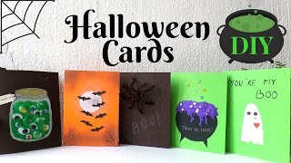 5 Halloween Cards To Make DIY | Easy & Funny Halloween Card Ideas For Kids 2019 | By Fluffy Hedgehog