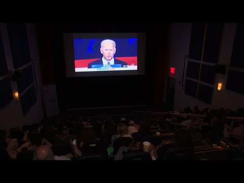 People attending watch parties in New Hampshire, Michigan, Louisiana and Colorado reviewed Thursday night's Democratic presidential debate. Many said Senator Kamala Harris had the best night and Joe Biden had the worst. (June 28)