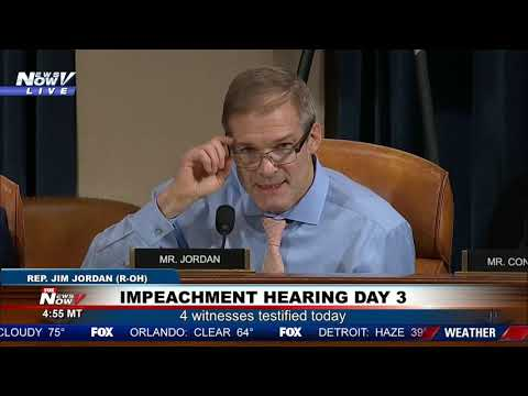 """THE DEMOCRATS ARE OUT TO GET THIS PRESIDENT"" Jim Jordan on impeachment hearings day 3"
