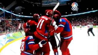 Ovechkin hits Jagr in the 2010 Vancouver Olympics
