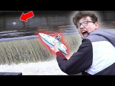 Ferngesteuertes BOOT vs Wasserfall! 🌊💥