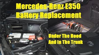 Mercedes E350 Battery Replacement - The Battery Shop