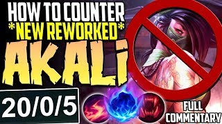 HOW TO COUNTER NEW REWORKED AKALI EASILY | Cho