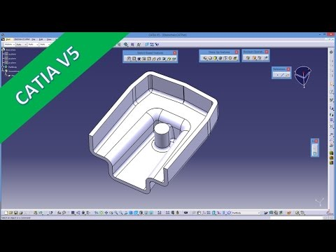 8.1 Oberschale - Catia V5 Training - Draft Angle - Shell - Neutral Element - Parting Element Mp3