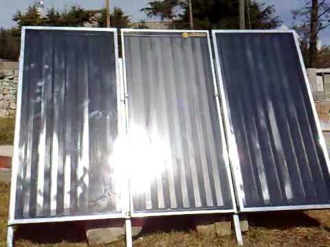 Pannelli Solari auto costruiti resa termica