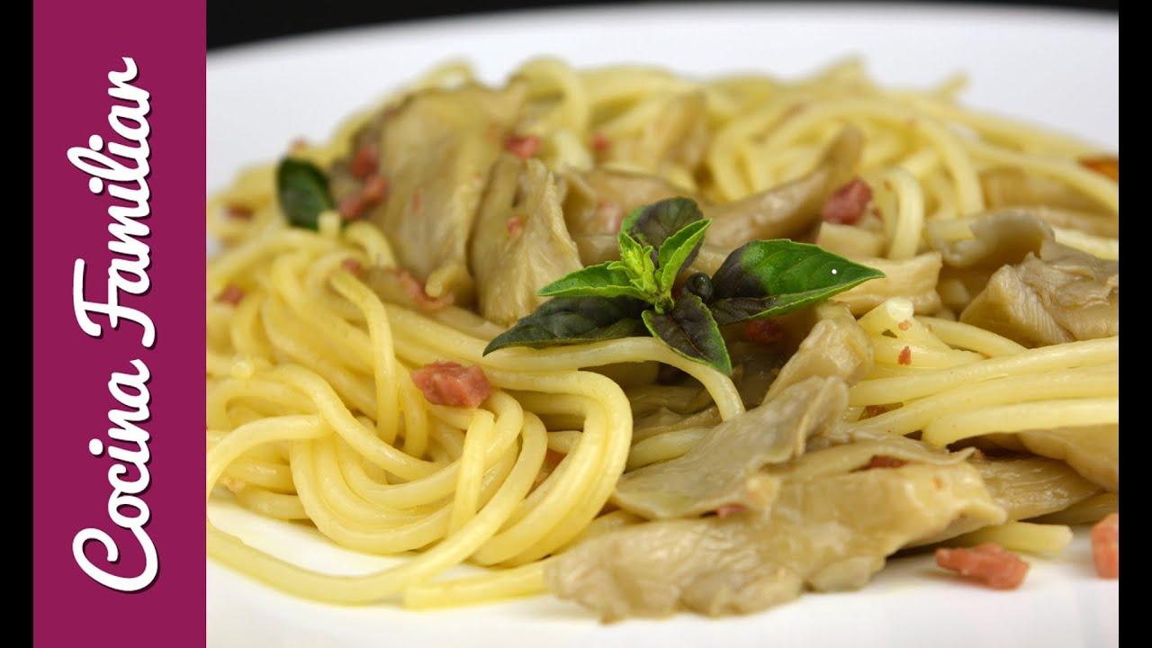 Espaguetis con salsa de hongos y jamón | Javier Romero