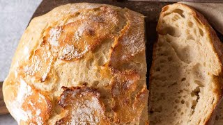 World's Easiest Homemade Bread - Crusty Artisan style!!