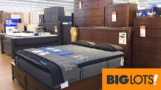 BIG LOTS BEDS BEDROOM FURNITURE DRESSERS TABLES HOME DECOR SHOP WITH ME SHOPPING STORE WALK THROUGH