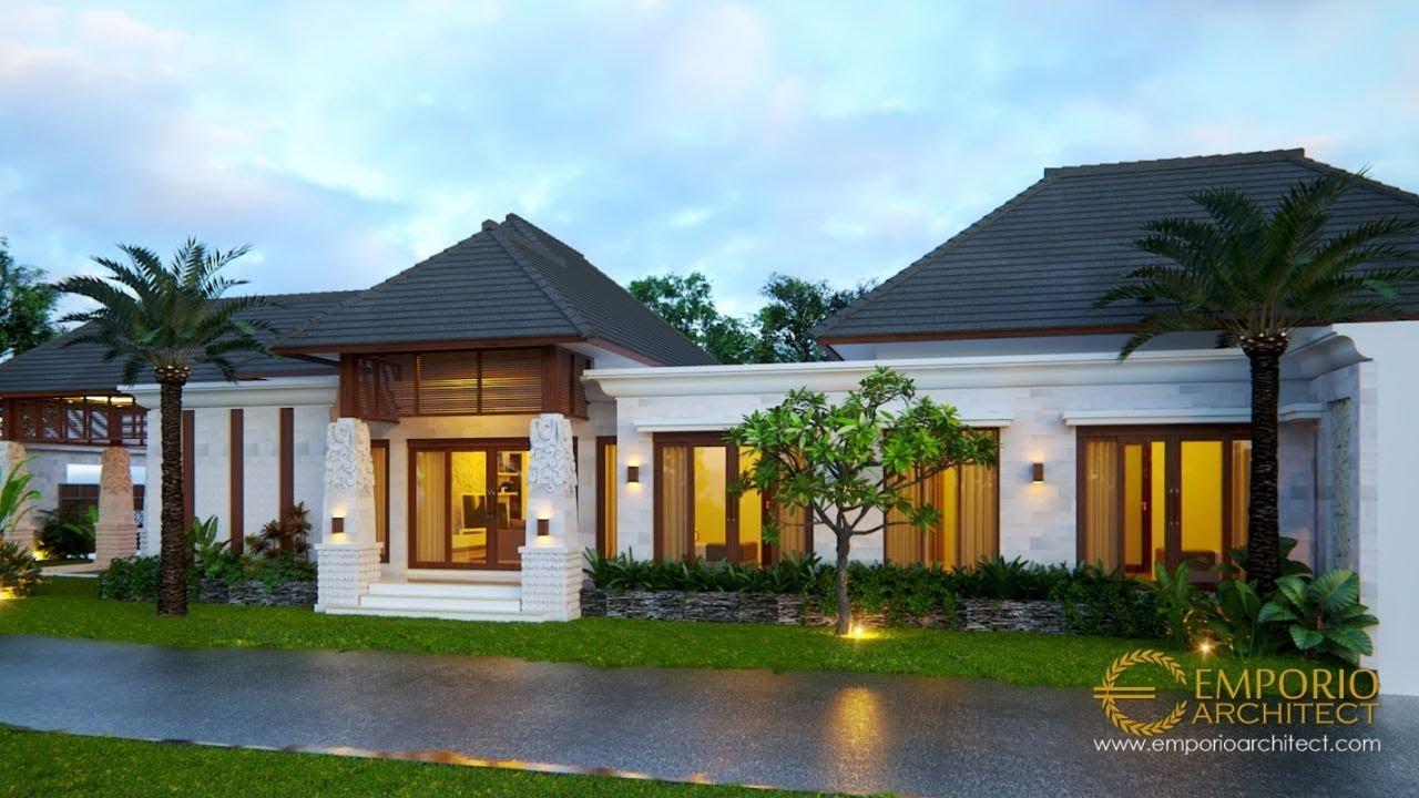 Video 3D Desain Rumah Villa Bali 1 Lantai Bapak Malvin di Balikpapan
