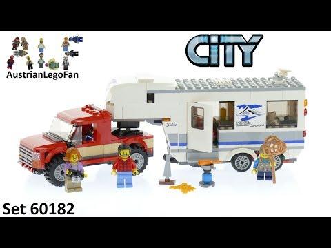 Vidéo LEGO City 60182 : Le pick-up et sa caravane