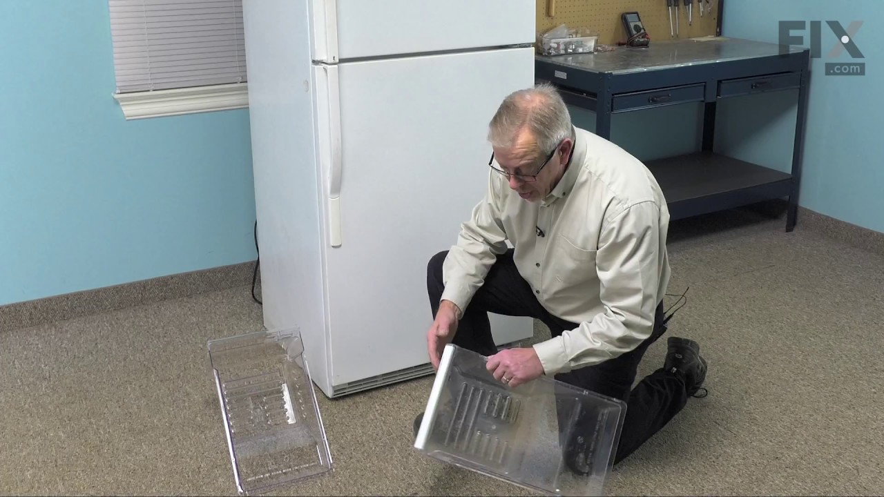 Replacing your Whirlpool Refrigerator Crisper Drawer - Clear