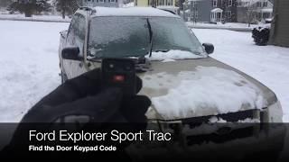 Sport Trac Door Code - How to find it!