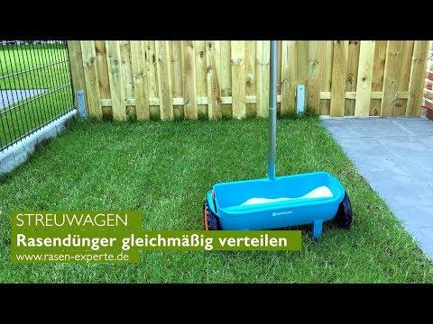 Rasendünger verteilen: Wie ein Streuwagen beim Rasendüngen hilft   GARDENA Streuwagen