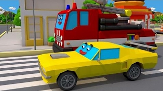 Learn Colors The Red Fire Truck and Racing Cars & Truck Cartoon Video for Children
