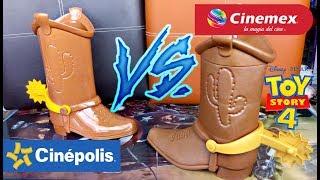 Cinépolis Vs Cinemex: Botas Coleccionables Toy Story 4!! ¿Cual Es Mejor?