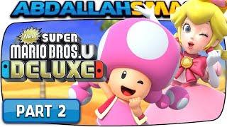 New Super Mario Bros U Deluxe - Layer Cake Desert 100% Walkthrough Part 2 (Nintendo Switch)