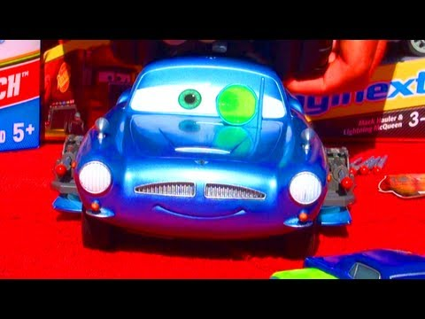 Cars 2 Air Hogs RC Finn McMissile Disney Pixar Toy Review - Talking Toy Sounds & Fire Spy Weapons!