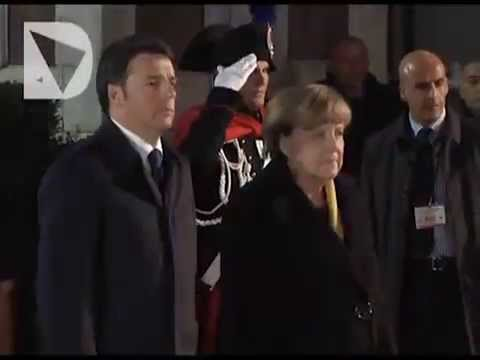 Renzi accoglie Merkel a Firenze - Video