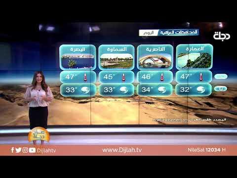 شاهد بالفيديو.. الانواء الجوية وتغيرات الطقس مع دينا هلسه 17-6-2019