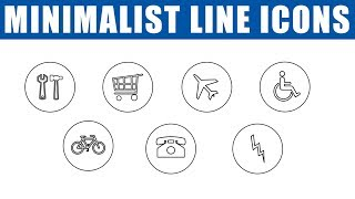 How To Make Minimalist Line Icons In Photoshop CC   App Icon Design