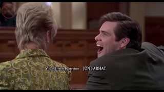 Джим Керри и вырезки из фильма Лжец лжец