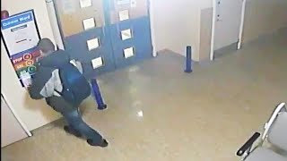 video: Watch: Man caught on CCTV stealing hand sanitiser from Northampton Hospital