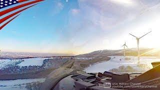 日本の山間部を超低空飛行するF-16戦闘機コックピット映像
