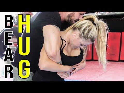 How to escape the Rear Bear Hug (body lock) • KRAV MAGA TRAINING